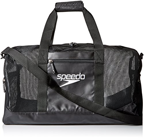 Speedo Ventilator Duffle Bag, Black/Black, - Bag Swim
