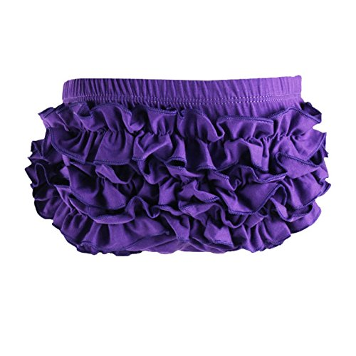 Wennikids Baby Girl's Cotton Shorts and Diaper Cover Bloomers Medium Purple from Wennikids