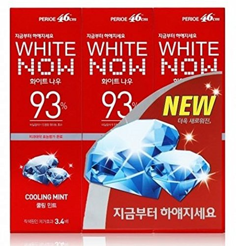 Lg Perioe 46cm Toothpaste Oral Care White Now 93% Cooling Mint 100g X 3 by perioe B00Y4IZRSE