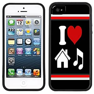 I Love House Music Handmade iPhone 5 5S Black Case by supermalls