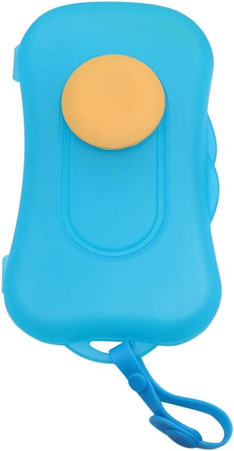 SUPVOX Caja De Toallitas Húmedas Para Bebés Almacenamiento De Toallitas Húmedas Portátiles De Plástico Dispensador De Pañales Para Viajes Casa (Azul): Amazon.es: Bebé