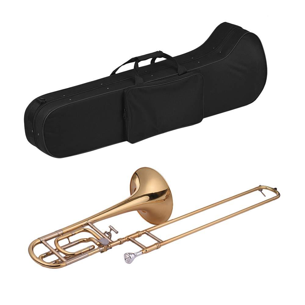 Festnight Trombone, Intermediate Bb Flat Tenor Slide Trombone with F Attachment Including Mouthpiece Carry Case by Festnight (Image #2)