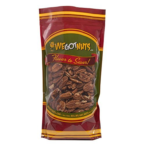 (Pecans Dry Roasted & Salted - 2 Pounds - We Got Nuts)