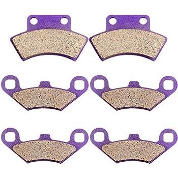 ECCPP FA159 Brake Pads Front Rear Carbon Fiber Replacement Brake Pads Kits Fit for Polaris Sportsman,Trail Blazer,Trail Boss,Worker,Xpedition,Xplorer,Xpress