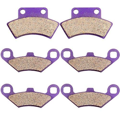 ECCPP FA159 Replacement Brake Pads Kits Fit for 1994 1995 Polaris 300,400L,Big Boss,Magnum,Scrambler,Sport,Sportsman,Trail Blazer 250,Trail Boss, Xplorer,Polaris Xpress