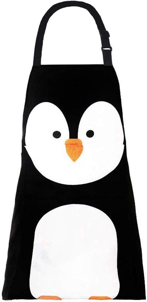 MissOwl Adjustable Bib Apron Penguin