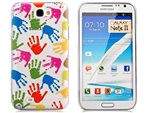 NEWTONS Palm Print Protective Case for Samsung Galaxy Note II N7100