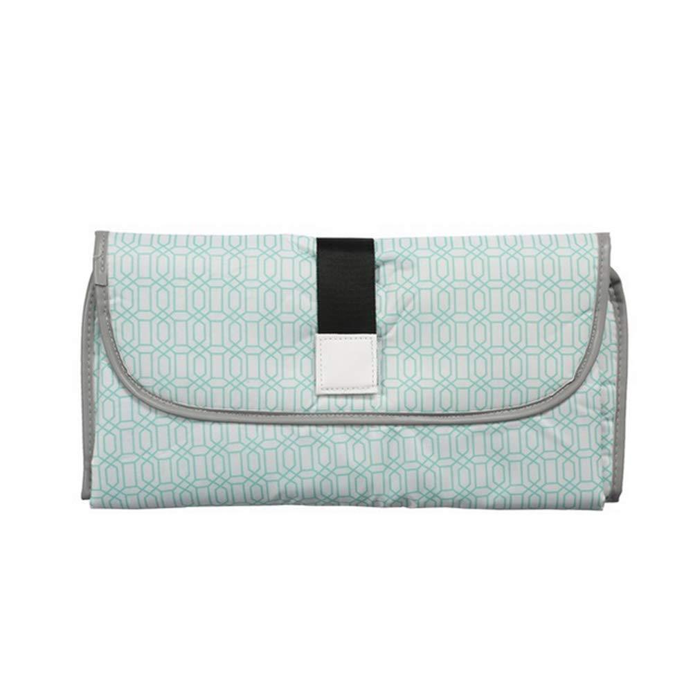 Waterproof Diaper Bag Mat Portable Baby Changing Diaper Pad Travel Carring Diaper Bag Light Green Naisidier