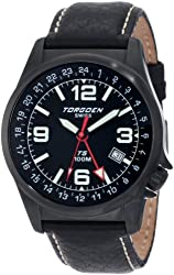 "Torgoen Swiss Men's T05104 ""T05 Series"" Stainless Steel Watch with Leather Band"