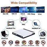 External Bluray Drive USB 3.0 Type-C 5 in 1 Blu Ray Drive Player BD Burner for Laptop Mac MacBook Pro Air Windows 10 Desktop PC