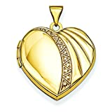 14k 21mm Heart Locket in 14k Yellow Gold