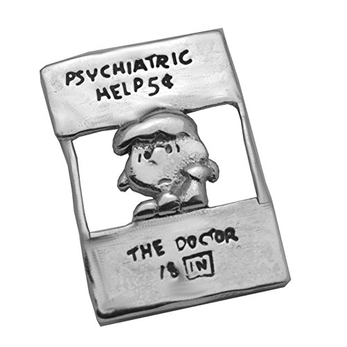 Prince of Diamonds Inc Lucy Charlie Brown Charm Peanuts Snoopy Sterling Silver .925 Charm Pendant Jewelry Doctor psychiatric Psychiatry Booth Help Depression Anxiety