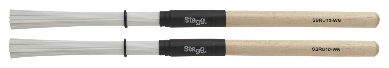 Stagg SBRU10-WN Poly Bristle Nylon Brushes with Wood Handles