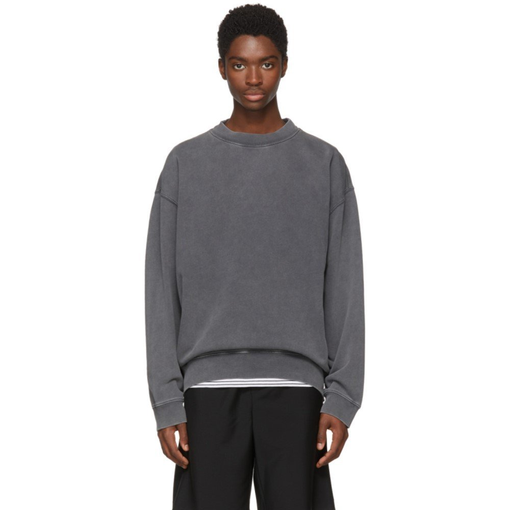 (アクネ ストゥディオズ) Acne Studios メンズ トップス スウェットトレーナー Black Fayte Wash Sweatshirt [並行輸入品] B07D14JKRJ M