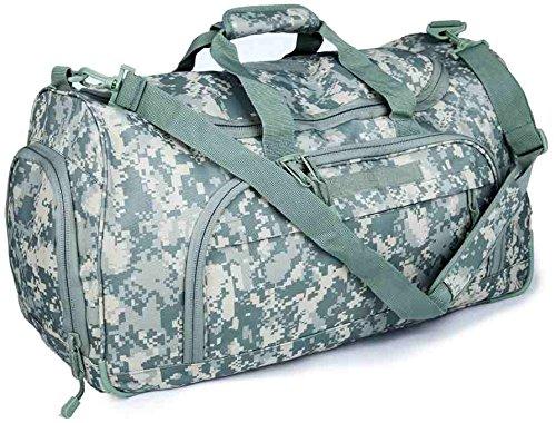 WolfWarriorX Military Tactical Locker Duffle Bag, Luggage Duffle Large Storage Bag for Traveling, Vacation, Hiking & Trekking (ACU)