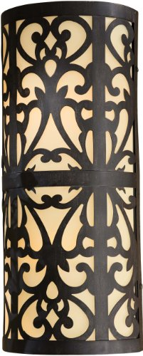 Minka Outdoor 1492-357-PL, Nanti Outdoor Wall Pocket Sconce Lighting, 26 Watts Fluorescent, Iron - 357 Pl Wall