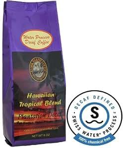Water Process Decaf, Kona Hawaiian Coffee Blend, 8 Oz Whole Bean