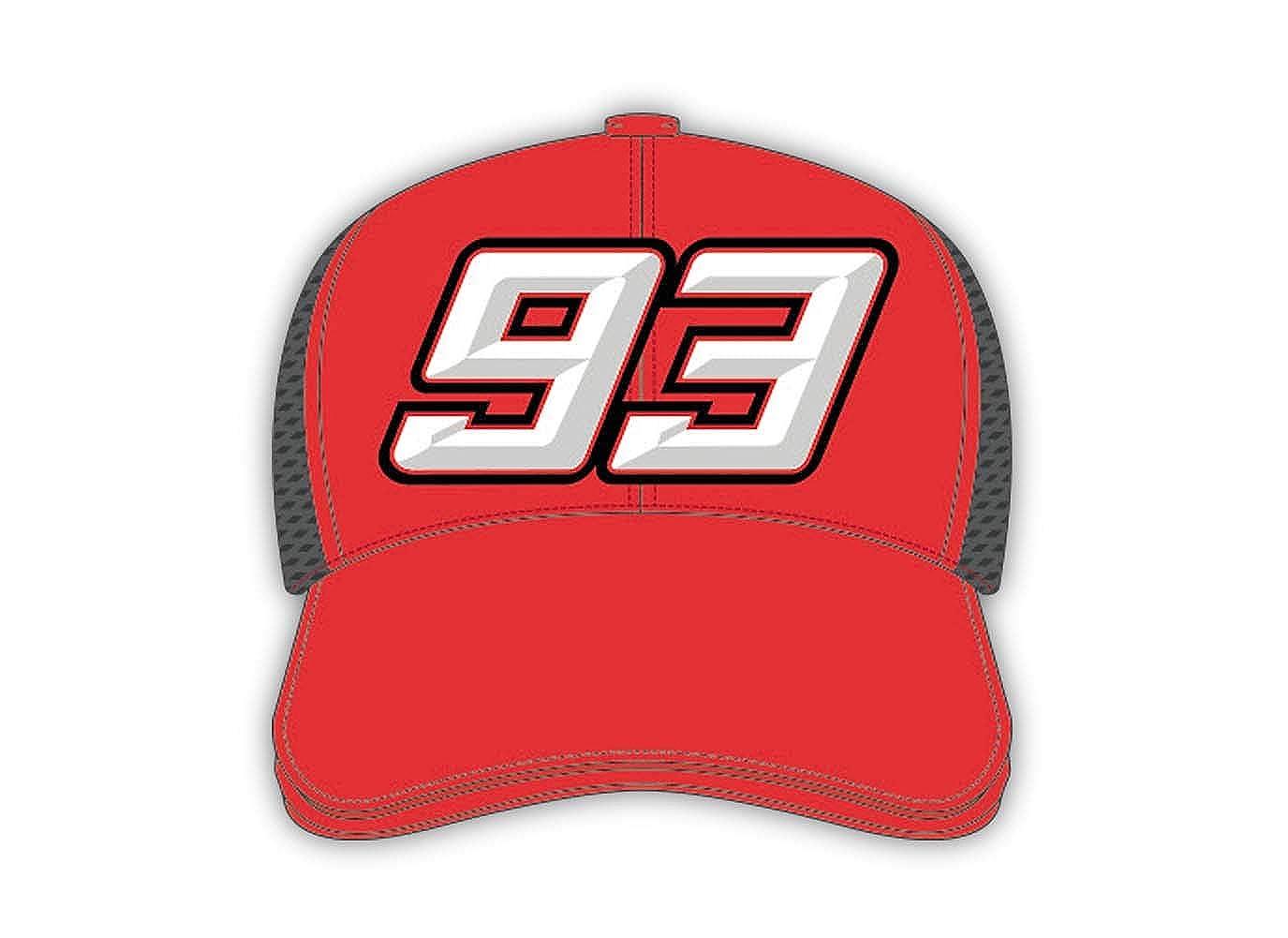 Gorra Marc Marquez - Camionero Big 93 Rojo: Amazon.es: Ropa y ...
