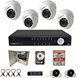 Evertech 4CH H.264 Video Compression format CCTV Surveillance Security DVR Camera System with 4 Dome 700TVL Aptina Cameras-1TB HDD, Best Gadgets