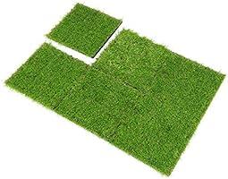 SUMC Césped baldosas Conjunto de 6 Piezas Césped Artificial Clic baldosas Hierba Artificial para decoración de Interior/Exterior, 12×12 Inch (6 Packs): Amazon.es: Jardín