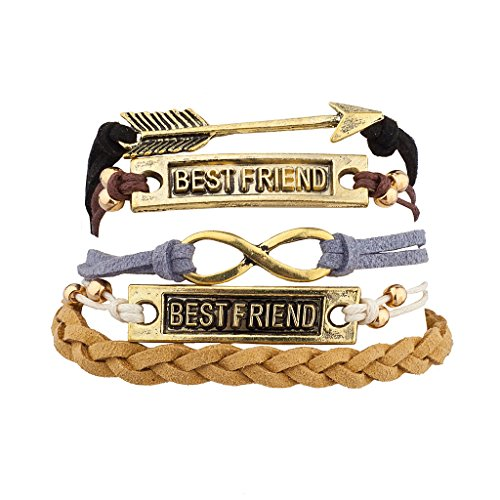 [Lux Accessories Burnish Boho Best Friends Forever BFF Arm Candy Set (5PC)] (Arm Candy Costume)