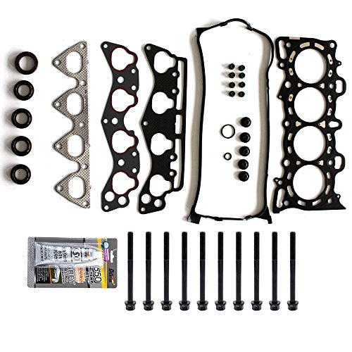 SCITOO Replacement for Head Gasket Bolts Kits Honda Del Sol Civic HX 1.6L SOHC D16Y5 D16Y7 1996-2000 Engine Cylinder Head Gaskets Set Kit (Civic Cylinder Head)