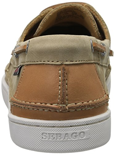 Sebago Mens Ryde Due Occhi Oxford Nabuk Marrone Chiaro / Pelle Marrone