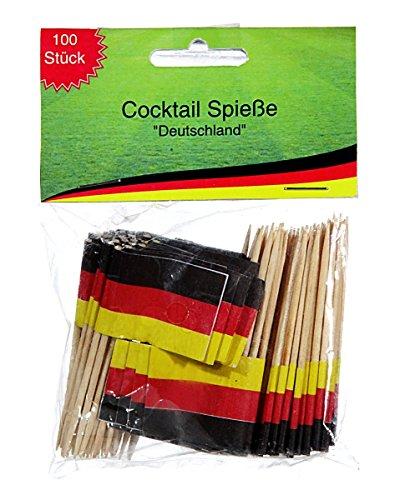 100 x Deko Picker Deutschland Fahne Partypicker 6,5 cm Käse-Picker Party Spieße