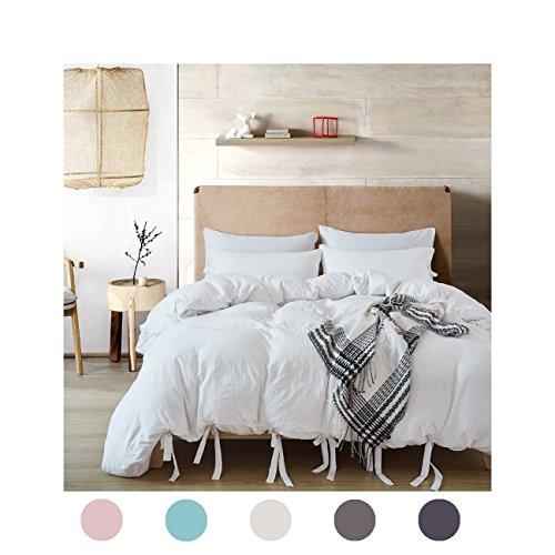 Moreover 3 Pieces White Bedding All White Duvet Cover Bowkno