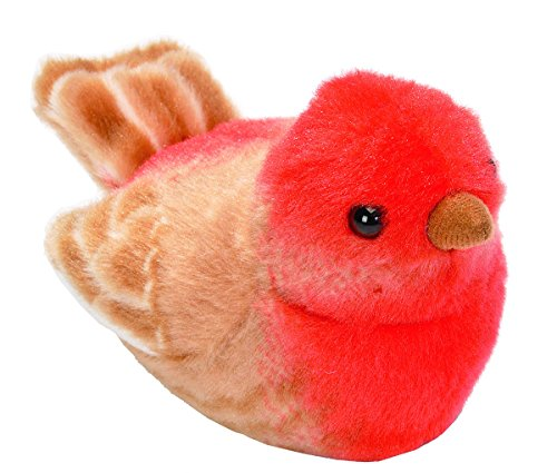 Wild Republic Audubon Birds House Finch Plush with Authentic Bird Sound, Stuffed Animal, Bird Toys for Kids & Birders