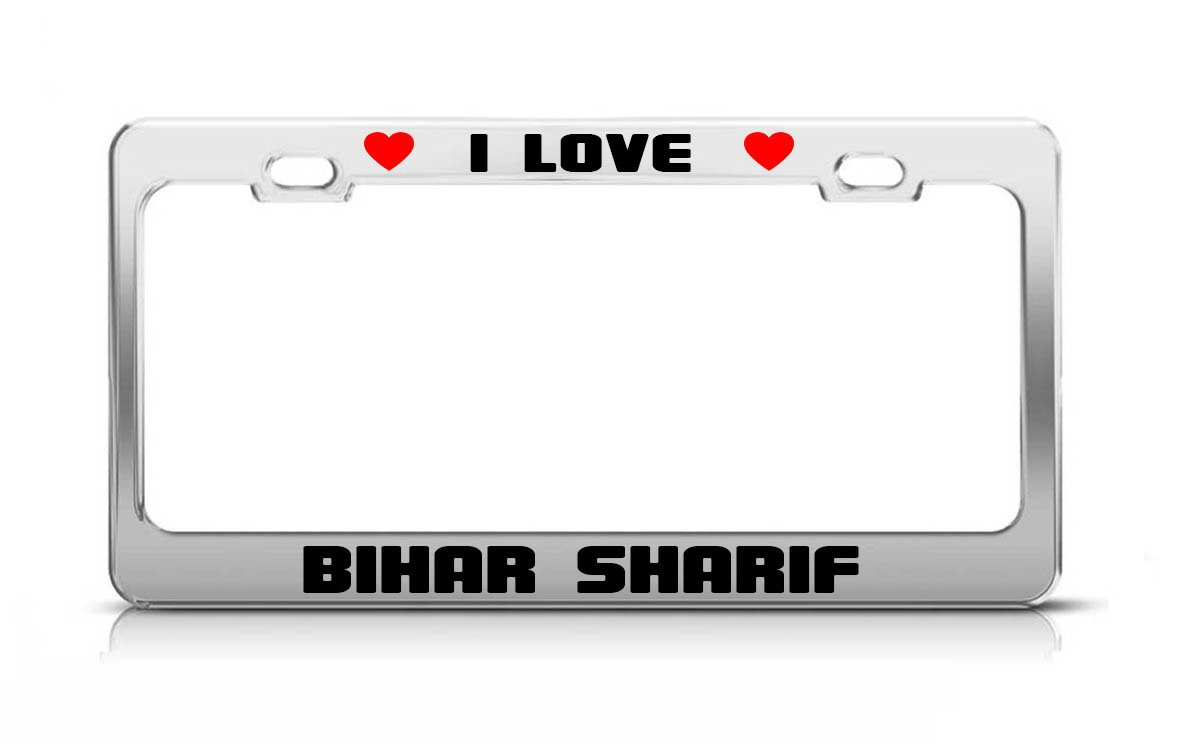 Amazon com: I LOVE BIHAR SHARIF India License Plate Frame