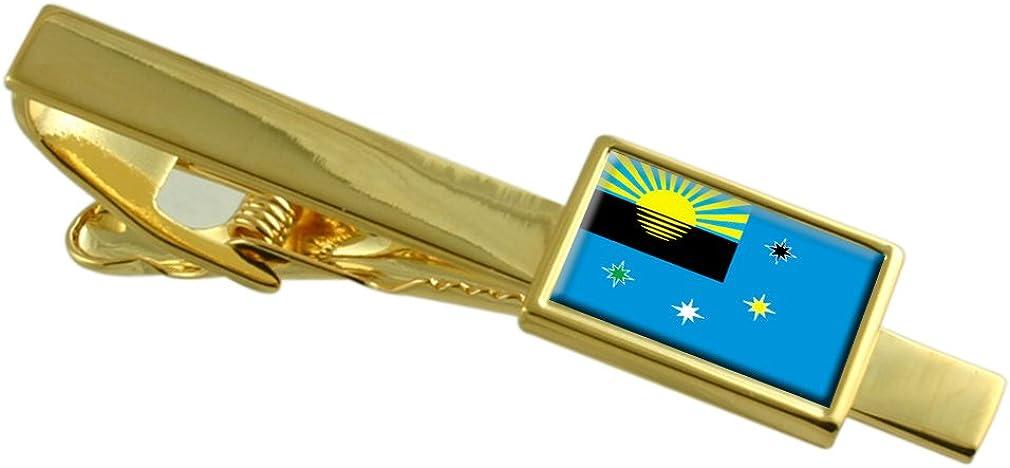 Makeyevka City Ukraine Flag Gold-tone Tie Clip Makiivka