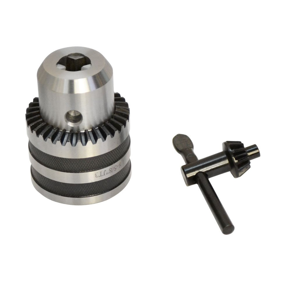JT3 1/8'' to 5/8'' Keyed Steel Drill Chuck Jacobs Tapered Mount Ball Bearing Key