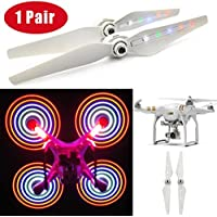 Rucan 1 Pairs LED Flash Light USB Rechargeable Propeller For DJI Phantom 3 PRO&ADV