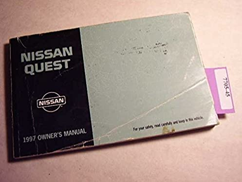 1997 nissan quest owners manual nissan amazon com books rh amazon com 2012 Nissan Quest GXE 1997 nissan quest service manual