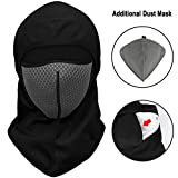 Motorcycle Balaclavas Winter Windproof Fleece Full Face Mask Fit For Men Women Outdoor Sports (Gray)