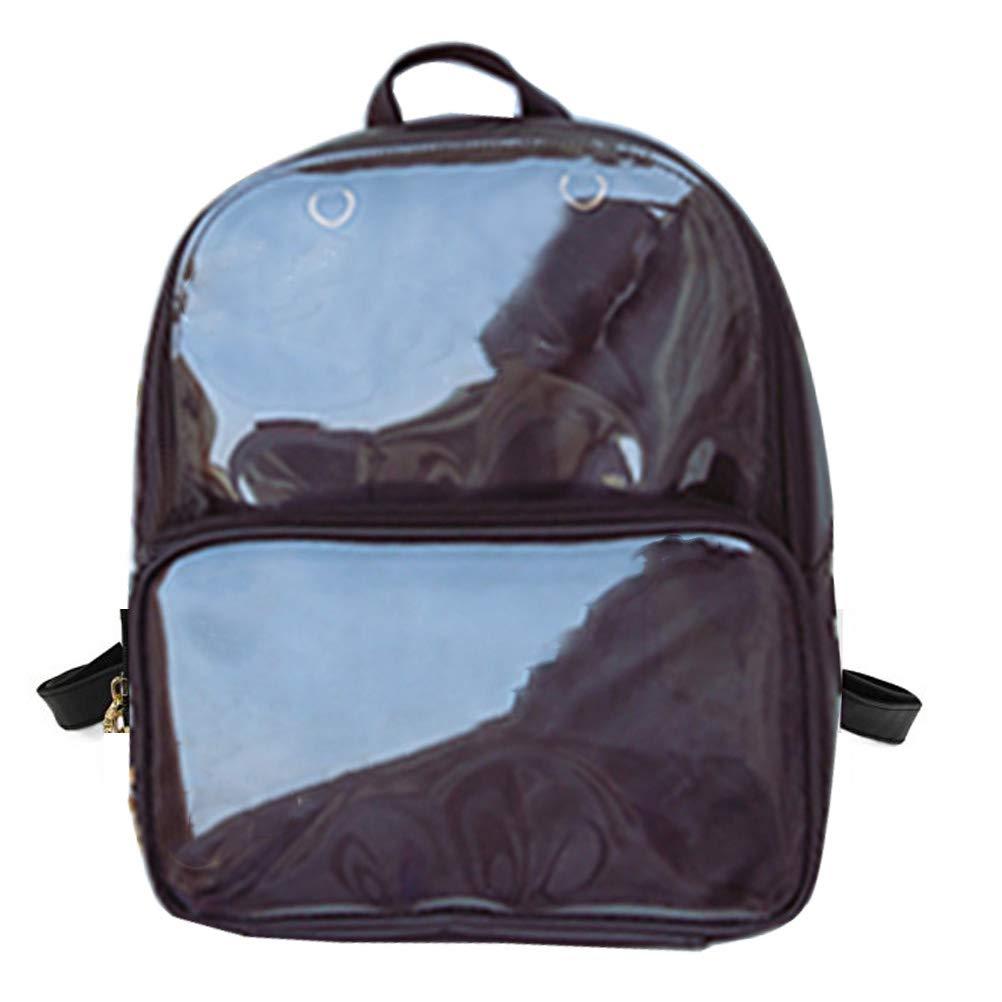 Abuyall Transparent Backpack School Bag Clear PVC Daypack Travel Satchel Girl Woman Adjustable Shoulder Strap