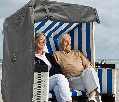 North Finest Premium strandkorfhoes van 600D Oxfordwaterdichtademendwinterbestendigweerbestendigrobuuste strandkorf cover in grijs antraciet