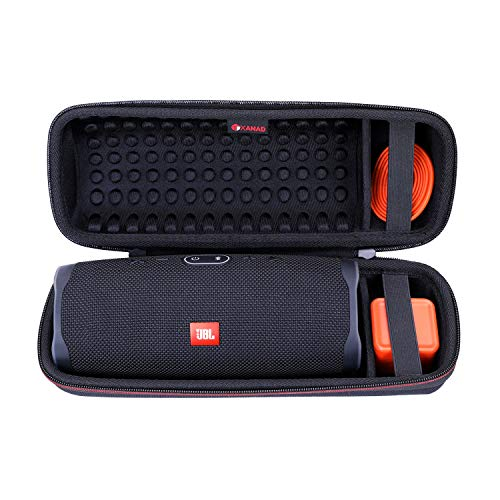 XANAD Case Compatible for JBL Charge 4 Portable Waterproof Wireless Bluetooth Speaker Black