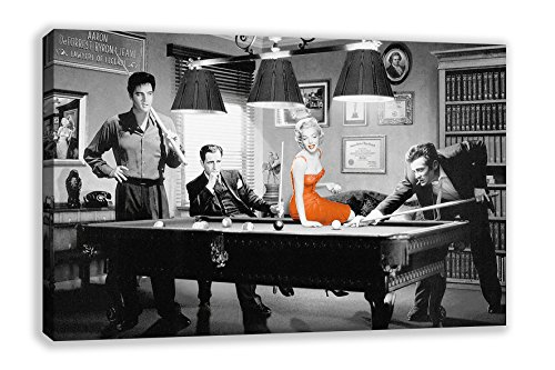 Art Canvas Monroe Marilyn (JAMES DEAN ELVIS MARILYN MONROE BILLIARDS SNOOKER CANVAS WALL ART (30
