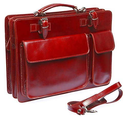 Bags4Less Mondial - Bolsa para portátil Unisex adulto Rojo a rayas