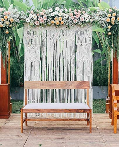 www.knittworld.com New Bohemian Macrame Wall Decor Boho Chic Style Macrame Wedding Backdrop Arch 70