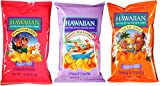 Hawaiian Kettle Chips Variety Bundle: (1) Mango Habanero Kettle Style Potato Chips 7.5oz, (1) Sweet Maui Onion Kettle Style Potato Chips 8oz, (1) Luau BBQ Kettle Style Potato Chips 8oz (3 Pack Total)