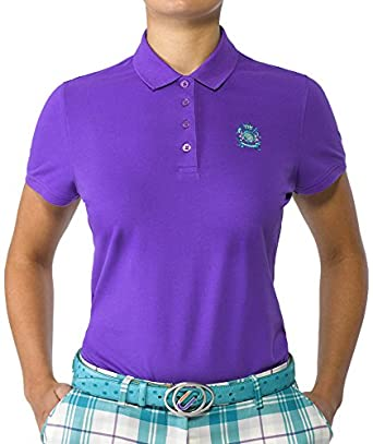 IJP Design Cotton Golo - Polo para Mujer, Color Morado, Talla UK ...