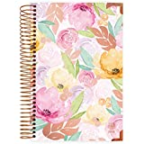 """bloom daily planners 2019 Hard Cover Calendar Year Day Planner - Passion/Goal Organizer - Monthly and Weekly Dated Agenda Book - (January 2019 - December 2019) - 6"""" x 8.25"""" - Watercolor Floral"""