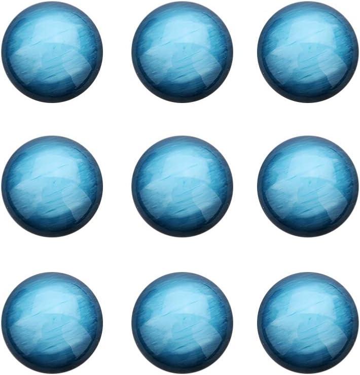 HEALLILY 30 Piezas Cabujones de Media Caña con Media Vuelta Natural Piedras Semipreciosas Piedras Preciosas Cúpulas Camafeos para Hacer Joyas (Azul Cielo 12 Mm)