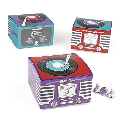Fun Express 12 Mini Rockin' 50's Fifties Record Player Retro Gift Boxes -
