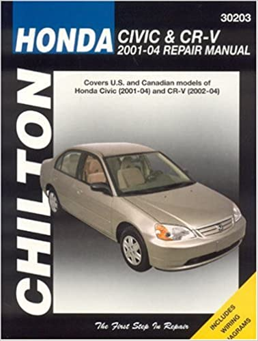 Honda civic and crv 2001 04 haynes repair manuals chilton honda civic and crv 2001 04 haynes repair manuals 1st edition fandeluxe Choice Image