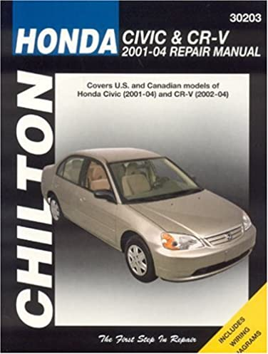 honda civic and crv 2001 04 haynes repair manuals chilton rh amazon com honda civic 2001 repair manual free 2001 honda civic dx repair manual