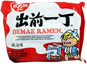 Nissin Demae Ramen japonés sopa de fideos, Sesame Sabor